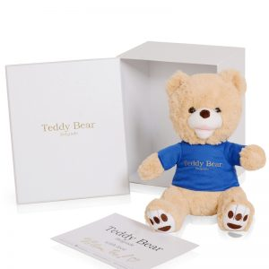Teddy Bear Golden Blue 30cm
