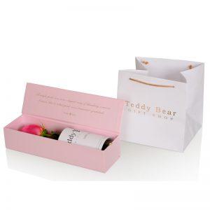 Teddy Bear Single Rose Pink 2