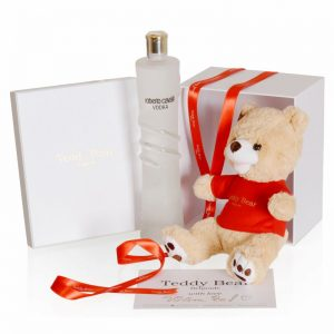 Teddy Bear GoldenRed® 30cm + Roberto Cavalli Vodka
