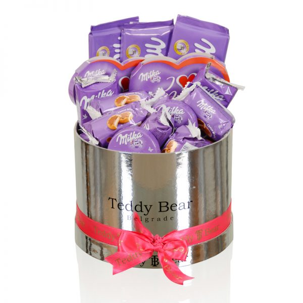 Teddy Bear Milka Silver small